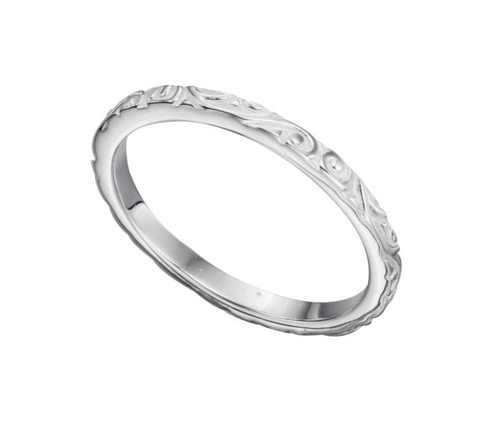 Textured Pattern Band Ring