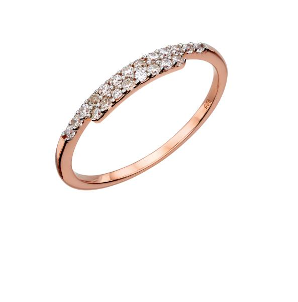 Thin Wrap CZ Ring Rose Gold