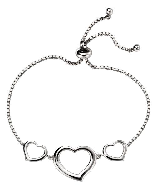 Triple Open Heart Toggle Bracelet