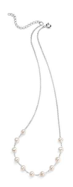 White Freshwater Pearl 40+5Cm Necklace