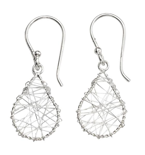 Wire Wrap Teardrop Earrings