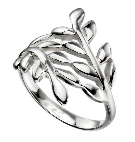 Wrap Over Leaf Ring