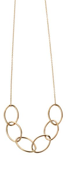Yellow Gold Big Link Necklace