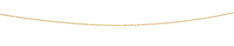 Yellow Gold Cable Oval Diamond Cut Chain